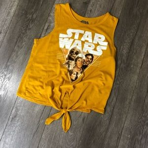 Fifth Sun Tops - Star Wars yellow tie front tank M